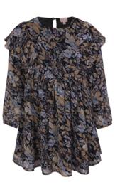 Herfst jurkje met blauw/ bruine tinten