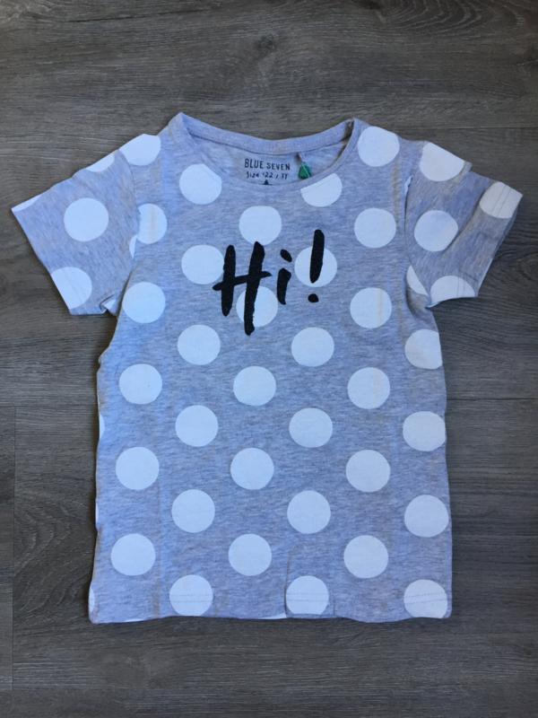 Fris grijs t-shirt met witte stippen, Blue Seven