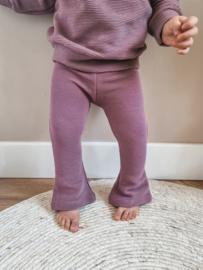 Fab Kids | Flared Legging Rib Oud Mauve