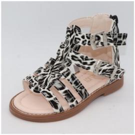 Leopard Sandals Grey