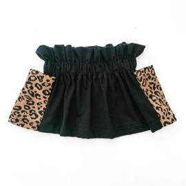 Fab Kids | Paperbag  Skirt Zwart/Leopard