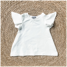 Fab Kids | A- Line Ruffle Top Off White