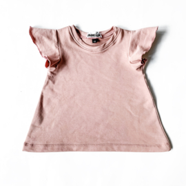 Fab Kids | A- Line Ruffle Top Old Pink