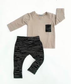 Fab Kids | Set Zand/Stripe