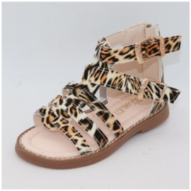 Leopard Sandals Brown