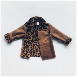 Lammy Coat Leopard Camel