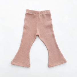 Fab Kids | Flared Legging Rib Nude Pink