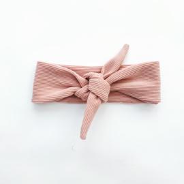 Fab Kids   Haarband Rib Nude Pink