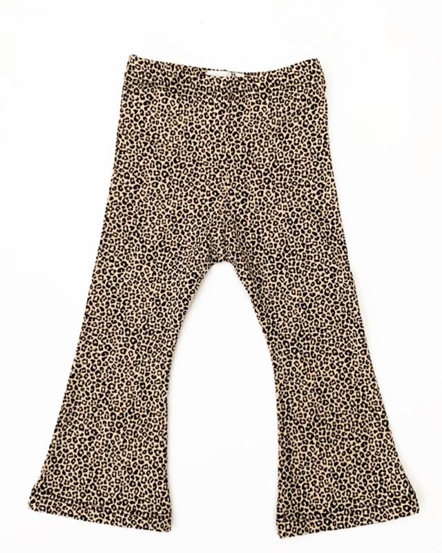 Fab Kids   Flared Legging Leopard S Sand