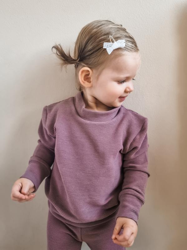 Fab Kids   Sweater Rib Mauve