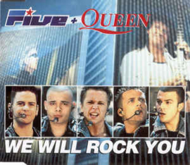 Five + Queen ‎– We Will Rock You (CD)