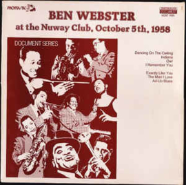 Ben Webster ‎– At The Nuway Club, October 5th, 1958