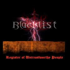 Blacklist ‎– Register Of Untrustworthy People (CD)