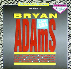 Bryan Adams ‎– Live USA (CD)
