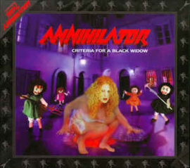 Annihilator ‎– Criteria For A Black Widow (CD)
