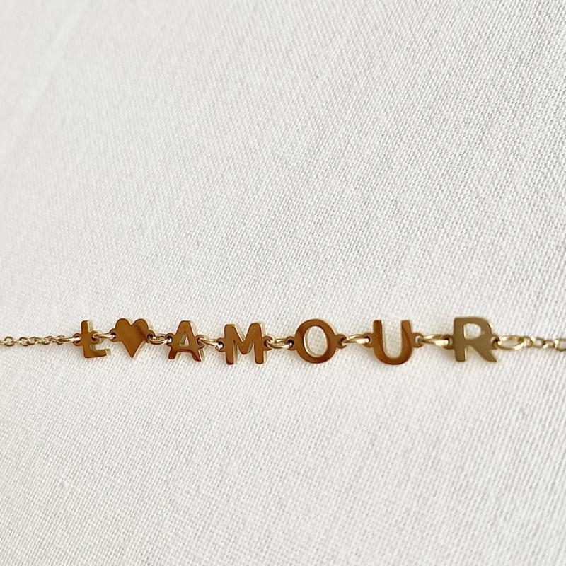 Armbandje - L'amour goud