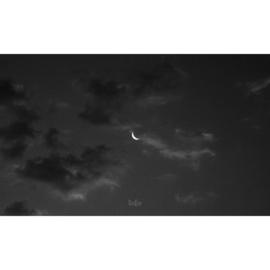 Binnenposter - Maan - zwart (15 x 25 CM)