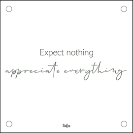 Plexiglas - Expect nothing... - Groen