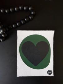 Canvas - Groen hart