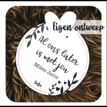 Muurcirkel, tuinposter of kaart met eigen afbeelding _ Liefss