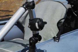 Houder met koppelstuk voor montage op Ø30/32 mm buis