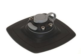 Houder met vergroot bevestigingszadel (140x140 mm) voor montage op opblaasbare PVC ondergrond
