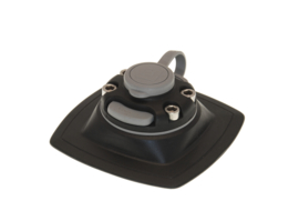 Houder met bevestigingszadel (110x110 mm) voor montage op opblaasbare PVC ondergrond