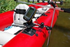 Verstelbare steun (100x100 mm) voor fishfinder (dieptemeter) met montagestang transducer (zend- en ontvangelement)