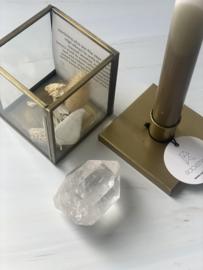 Kandelaar met bergkristal XL (3 stuks)