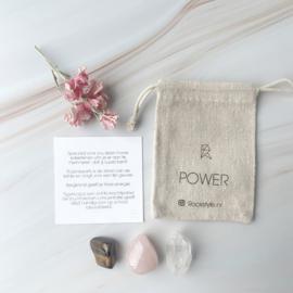 POWER *rozenkwarts * bergkristal * tijgeroog* (3 zakjes)