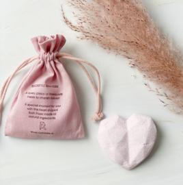 Bruisbal met edelsteen-verrassing - rozenkwarts (10 stuks)