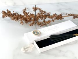 Wierook & Gemstone giftbox: Lavendel/Bergkristal (2 doosjes)
