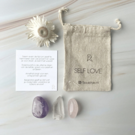 SELF LOVE * rozenkwarts * bergkristal * amethist * (3 zakjes)