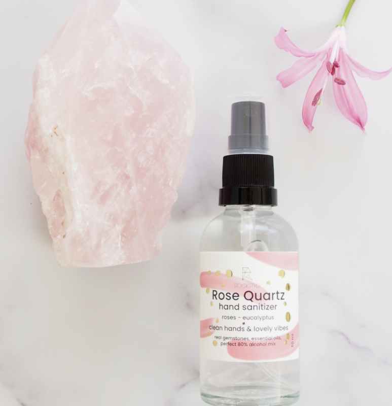 Hand Sanitizer: LOVE - Rose Quartz (2 stuks)