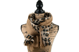 Sjaal Chique Leopard - Beige