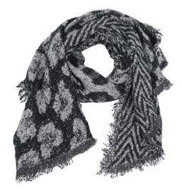 Sjaal Geometric Leopard - Zwart
