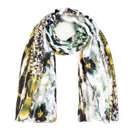 Sjaal Silk Flower - Groen