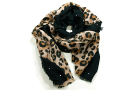 Sjaal Chique Leopard - Zwart