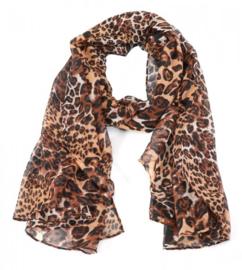 Sjaal Mixed Animal - Bruin