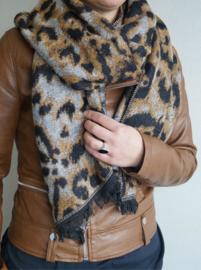 Sjaal Leopard Print - Camel