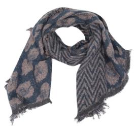 Sjaal Geometric Leopard - Blauw