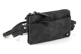 Heup- en schoudertasje Bari - Zwart