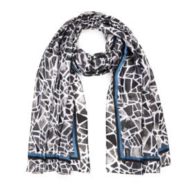 Sjaal Geometric Silk - Grijs