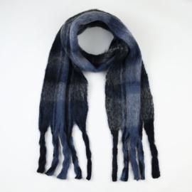 Sjaal Warm Blocks - Blauw