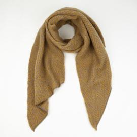 Sjaal Warm Herringbone - Geel