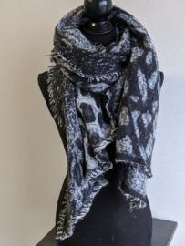 Sjaal Winter Leopard - Zwart