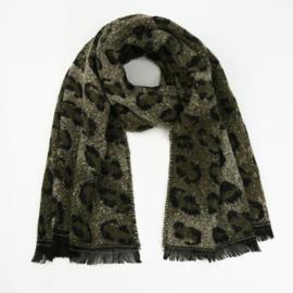 Sjaal Comfy Leopard - Groen
