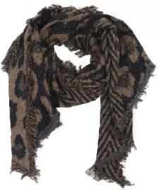 Sjaal Geometric Leopard - Bruin