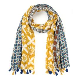 Sjaal Trendy Flowers - Geel