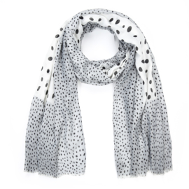 Sjaal Full Stippy - Grijs
